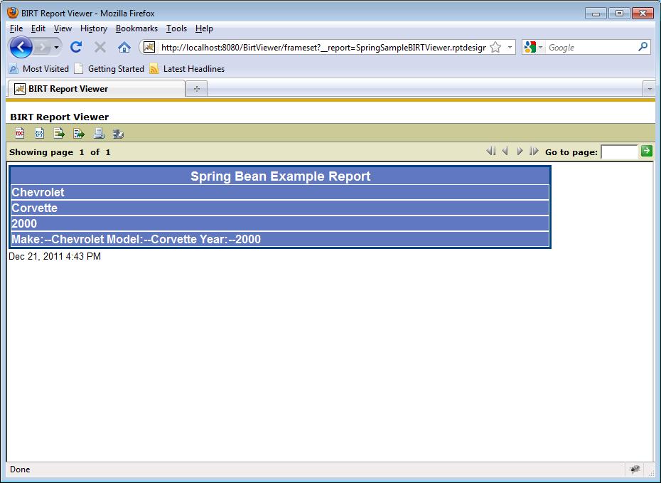Spring Framework & BIRT