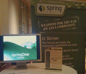 SpringSource booth at SpringOne Americas 2008
