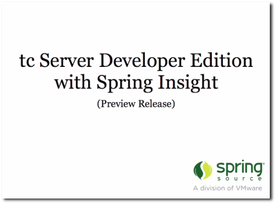 tc Server Developer Edition Screencast